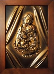 3 Obrazy W Skorze Religijne Obrazy I Zegary Ze Sk Oacute Ry
