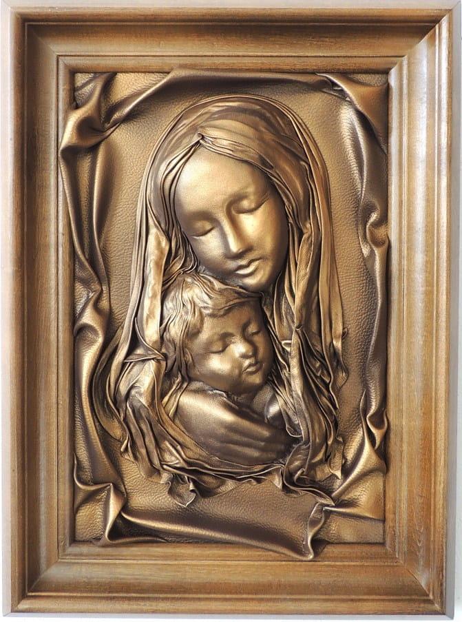 Rewelacyjny Matka Boska z dzieciątkiem s3-3 OBRAZY I ZEGARY ZE SKÓRY OI26